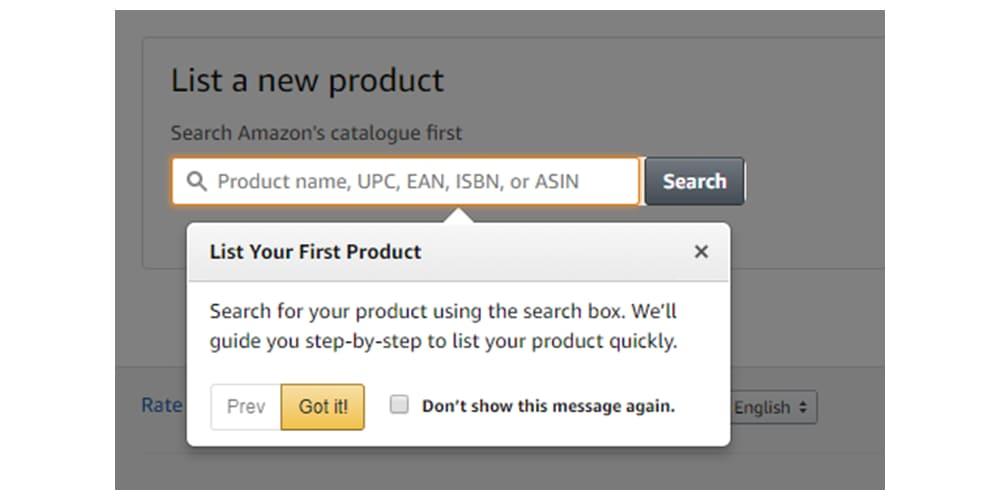 Nieuw product toevoegen op Amazon.de